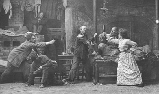 Stanislavski acting on stage