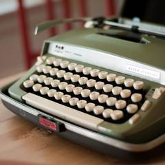 found typewriter