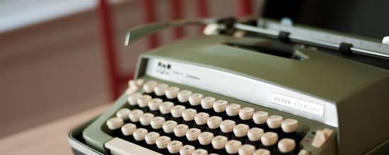 found typewriter